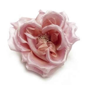 Heckenrose aus Seide in rose von Heinz Müller