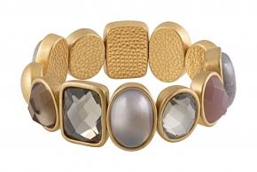 Sence Copenhagen Armband mit Schmuck-Edelsteinen goldplatiniert