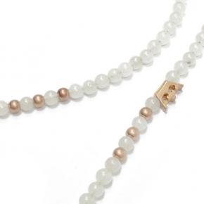 Sence Copenhagen Halskette mit weißen Aventurin Perlen