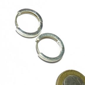 Ohrhänger Klappcreolen rund in Silber