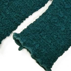 Seidenstulpen gecrasht petrolfarben von Rother Textildesign