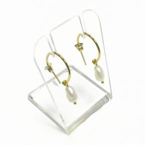 Stephisimo Ohrstecker Freshwater-Pearls Mini golden