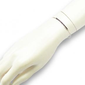 Stephisimo Armband versilbert mit Rocaillesperlen hämatit