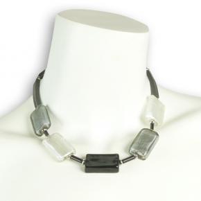 Glasperlenkette mit Granitperlen von Stephisimo