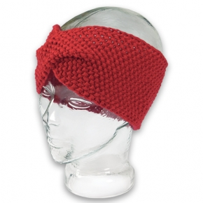 Strick-Stirnband Perlmuster rot von rotlilie