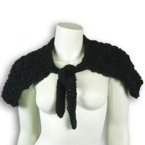 rotlilie Strickkragen schwarz