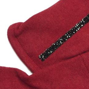 Wollstulpen rot mit dezentem Schimmer