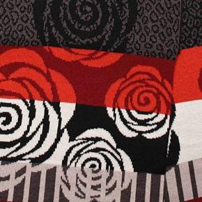 Wiebke Möller Schal Wild Roses L anthrazit-schwarz