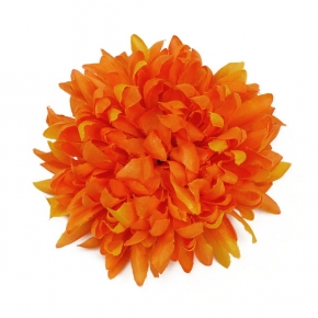 Dahlie orange zum Anstecken von Lieblingsstükke by Martina Wodke