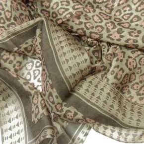 Ahmaddy Seidenschal mit Leo in old Rose-Taupe