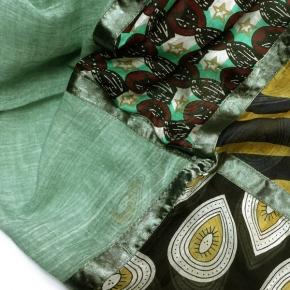 Ahmaddy Seiden-Baumwolltuch Quadrato exotisch