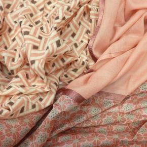 Ahmaddy Seiden-Wollschal in feinen Rosetönen