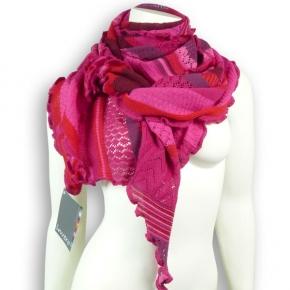 Invero Dreiecktuch Merinowolle Kyra pink