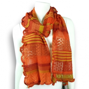 Invero Merino-Wollschal Manu orange