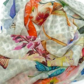Nila Pila Schal Najla - mit Tieren und Blüten