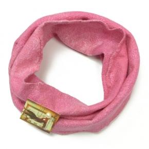 Happy Loop in pink gefilzt aus Seide mit Wolle