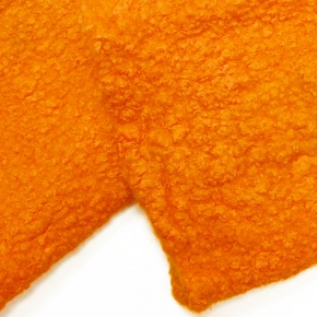 """""""Happy Stulpen"""" aus Filz mit Seide und Wolle orange"""