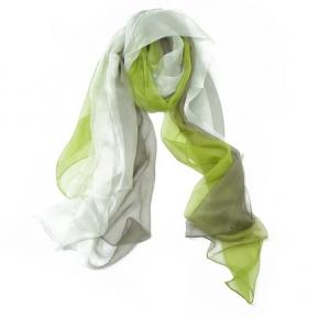 Senas Seidenstola Etude II in grün/taupe