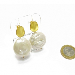 Perlen-Ohrstecker Stephisimo Freshwater Pearls mit gold